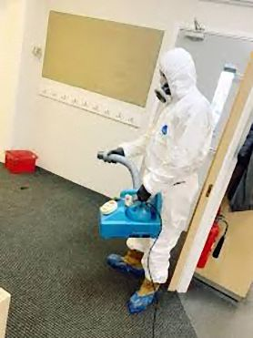 Commercial decontamination in office