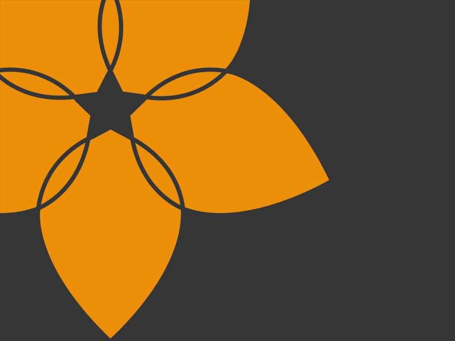 Stylised flower from logo The Fine Cleaning Company identity logo part